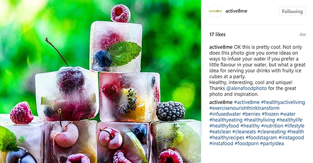 Active8me Save Time Healthy Living Hacks for Busy People Fruity ice cubes