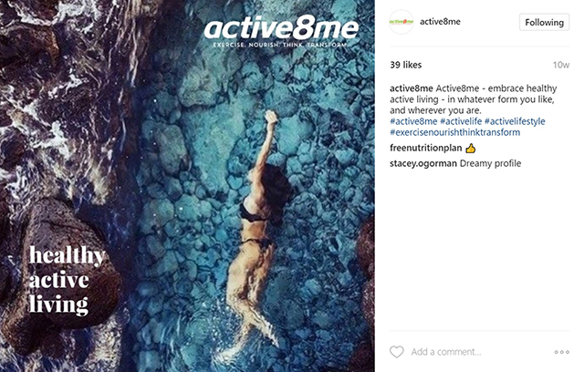 Active8me essential motivation tools to look and feel your best woman swimming instagram post