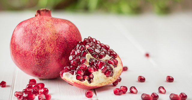 Active8me 11 Rejuvenating foods for Stunning Youthful Skin Cut pomegranate