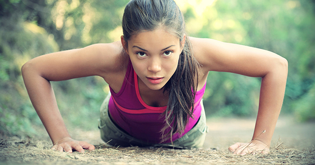 Active8m The Perfect Time to get Started woman doing push ups
