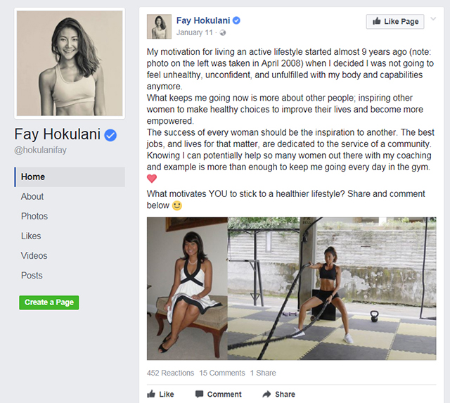 Active8me Fay Hokulani Instagram vs Real Inspiration or intimidation her story