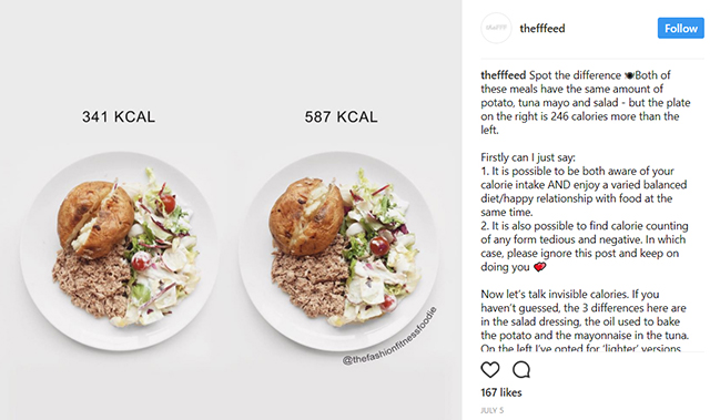 Active8me 5 Food Myths Busted instagram post calorie differences