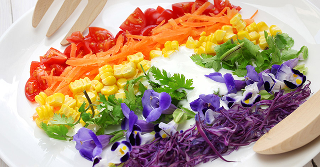 Active8mes guiding nutrition pillars rainbow colors on your plate