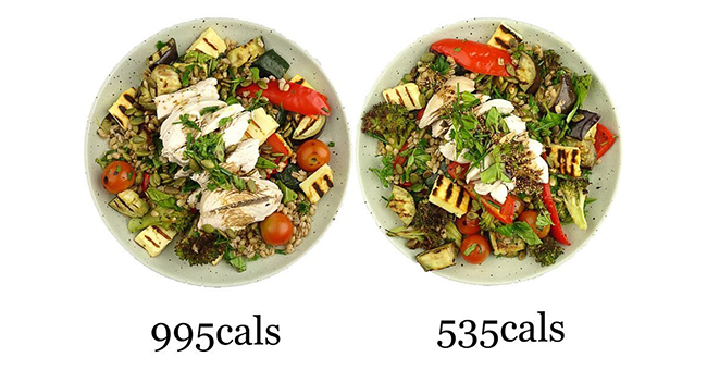 Active8me eating out unhealthy vegetable dishes same salads with different calories