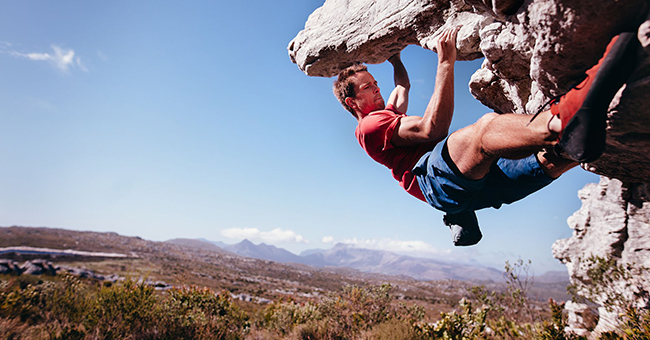 Active8me 10 Easy Steps to Turning your Setback into a Comeback Rock climber
