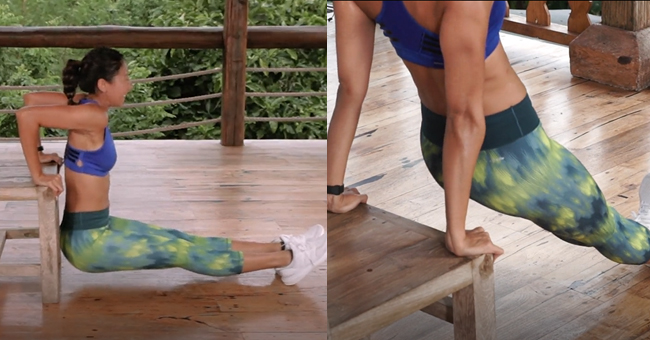 Active8me Workout - The Anywhere Anytime 15-minute Chair Workout Tricep dip