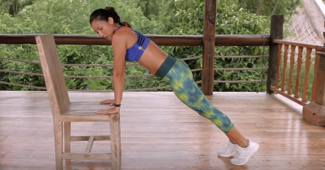 Active8me Workout - The Anywhere Anytime 15-minute Chair Workout Push up