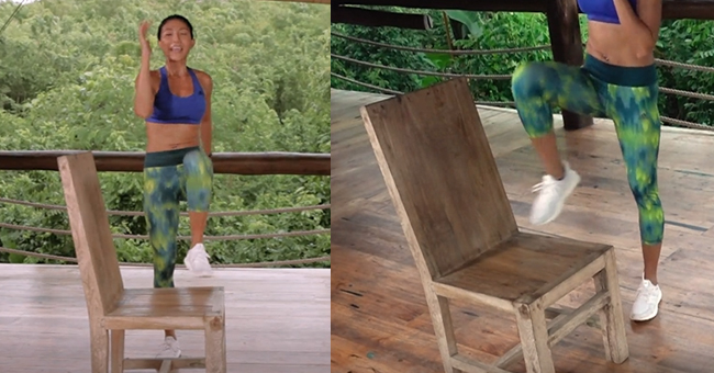 Active8me Workout - The Anywhere Anytime 15-minute Chair Workout Step ups