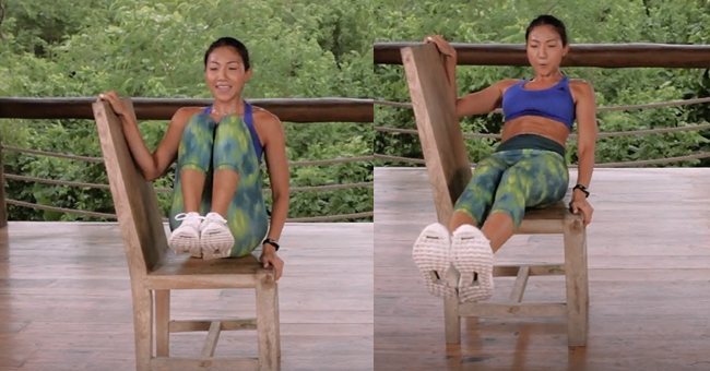 Active8me Workout - The Anywhere Anytime 15-minute Chair Workout Abs in and out