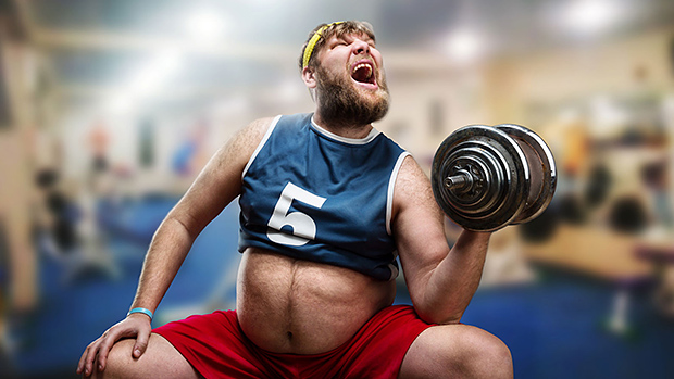 Active8me The Common Fitness Trend that Ruins Your Fitness Fat man lifting weight